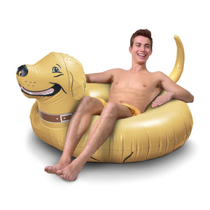 GoFloats Buddy the Dog Party Tube® Inflatable Raft for Adults and Kids
