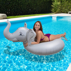 GoFloats Trunks The Elephant Party Tube® Inflatable Raft | Fun Pool Float for Adults and Kids