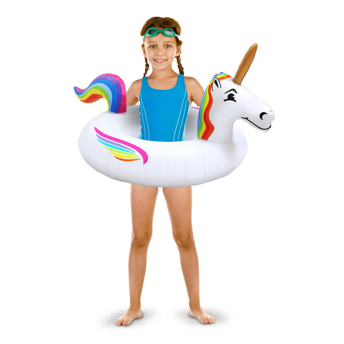 GoFloats Unicorn Jr Pool Float - Inflatable Raft for Kids