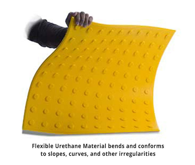 Truncated Dome ADA Pads in Flexible Urethane - For Concrete Surfaces