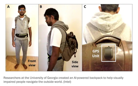 AI-powered backpack to help visually impaired people navigate the outside world