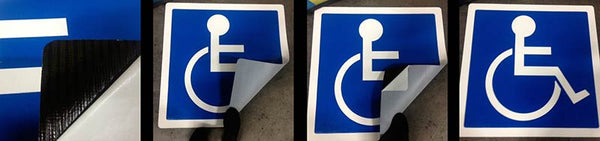 Handicap Parking Space Wheelchair Symbol Mat Collage