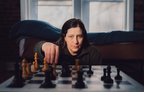 Jessica Lauser blind chess champion