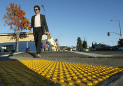blind pedestrian crossing truncated domes tactile warning ADA pads