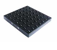 TDD-ATC-11 Truncated Domes Cast-in-Place Replaceable Tiles - 1' x 1' - Black