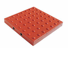 TDD-ATC-25 Truncated Domes Cast-in-Place Replaceable Tiles - 2' x 5' - Brick Red
