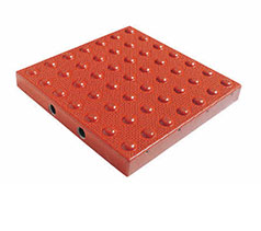 TDD-ATC-34 Truncated Domes Cast-in-Place Replaceable Tiles - 3' x 4' - Brick Red