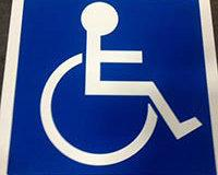 TDD-SSP-ISA ADA Wheelchair Symbol to Mark Handicap Parking Spaces