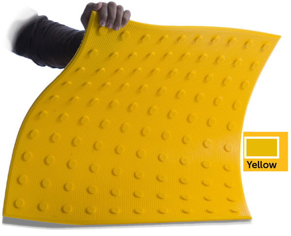 TDD-UT-25 Truncated Domes - Flexible Urethane ADA Pads - 2' x 5' - Yellow