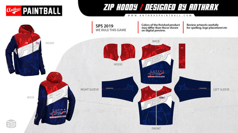 Singapore Paintball Series Zip Hoody (Anthrax)