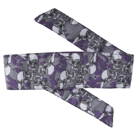 HK Army - Skulls - Hostilewear Headband - Purple