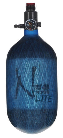 Ninja Lite Carbon Fiber Air Tank 68/4500 w/ UL Regulator - Translucent Blue