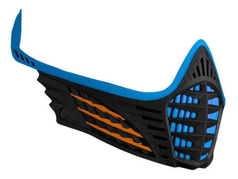 Virtue VIO Facemask - Cyan/Orange/Black