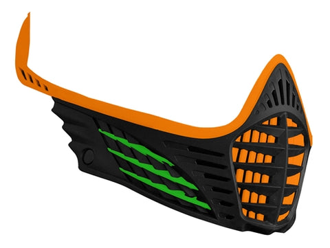 Virtue VIO Facemask - Orange/Lime/Black