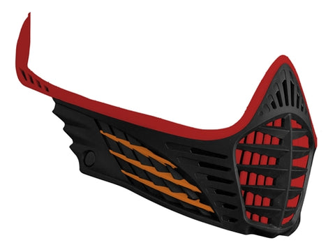 Virtue VIO Facemask - Red/Orange/Black