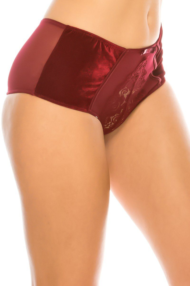 Velvet With Lace Detail
