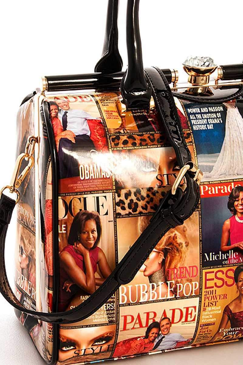 2 in 1 Magazine Satchel With Long Strap