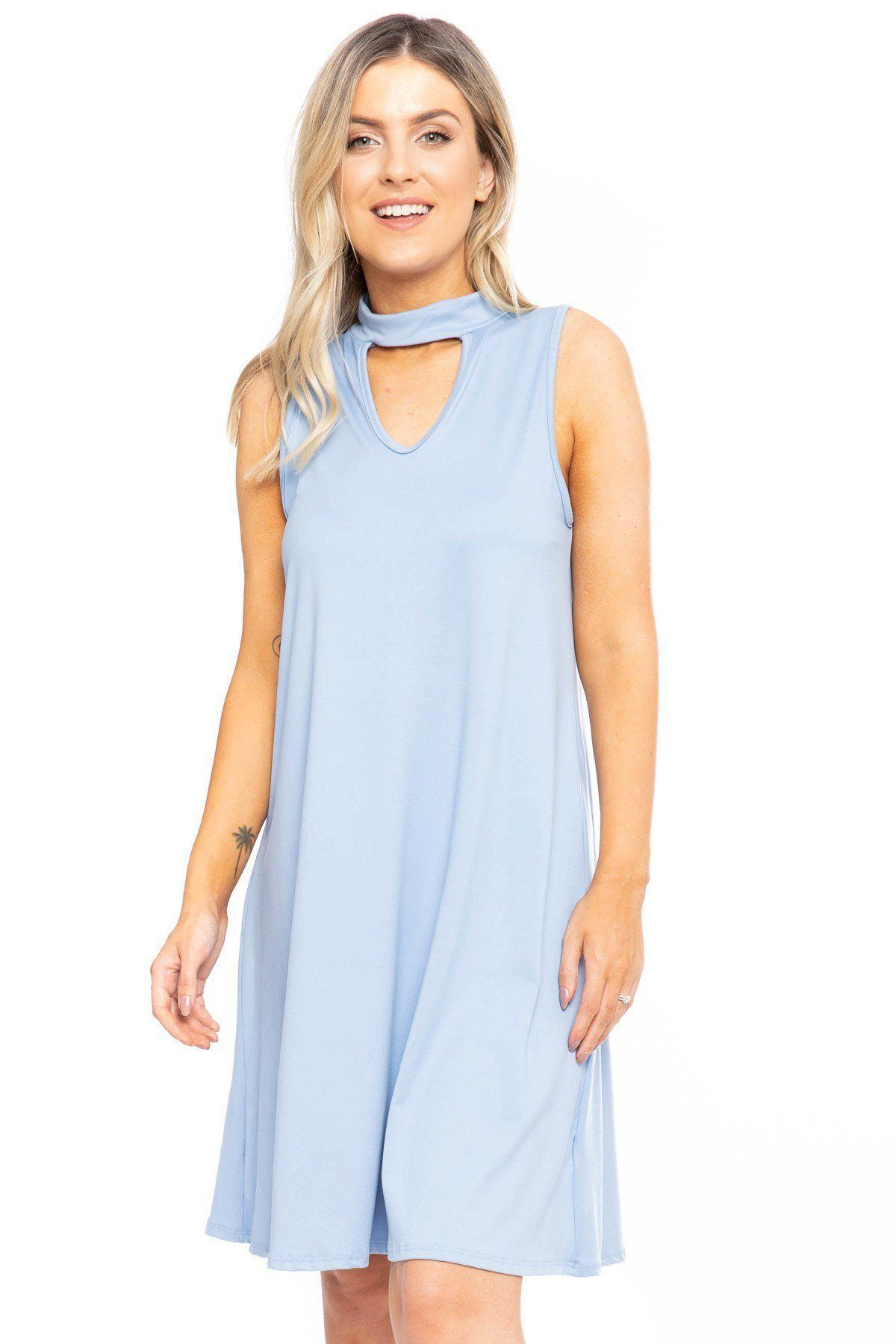Solid Short A-line Dress