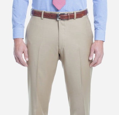 TAN SOLID TROUSERS - Miguel's Men's Wear