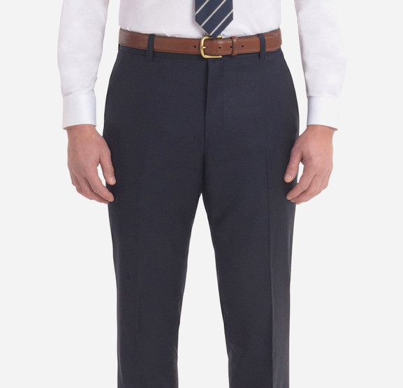 NAVY SOLID TROUSERS - Miguel's Men's Wear