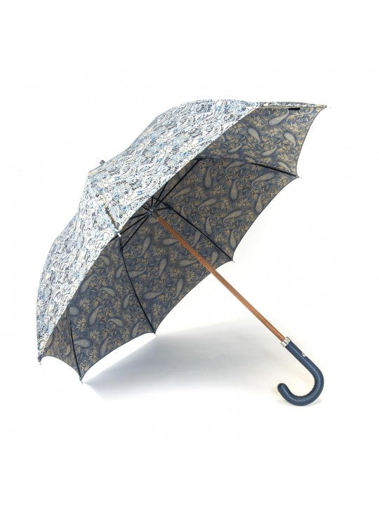 Navy/Chartreuse Paisley Vine Umbrella - Miguel's Men's Wear