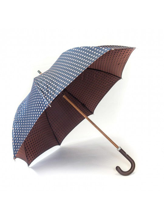 Navy/Copper Medium Polka Dots Umbrella
