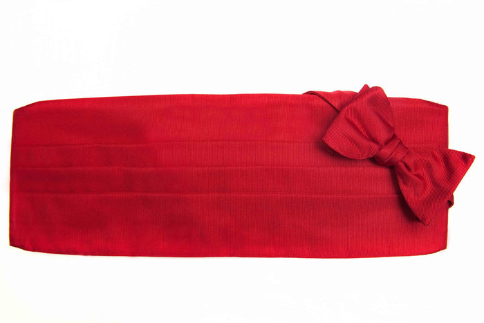Red Grosgrain CB Set - Miguel's Men's Wear