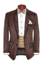 Chocolate 2B Notch Suit - Miguel's Men's Wear