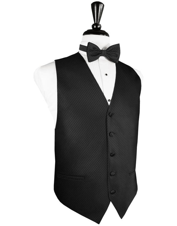 Black Palermo Tuxedo Vest - Miguel's Men's Wear