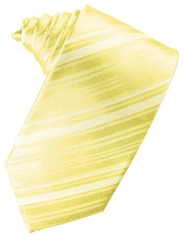 Canary Striped Satin Necktie - Miguel's Men's Wear