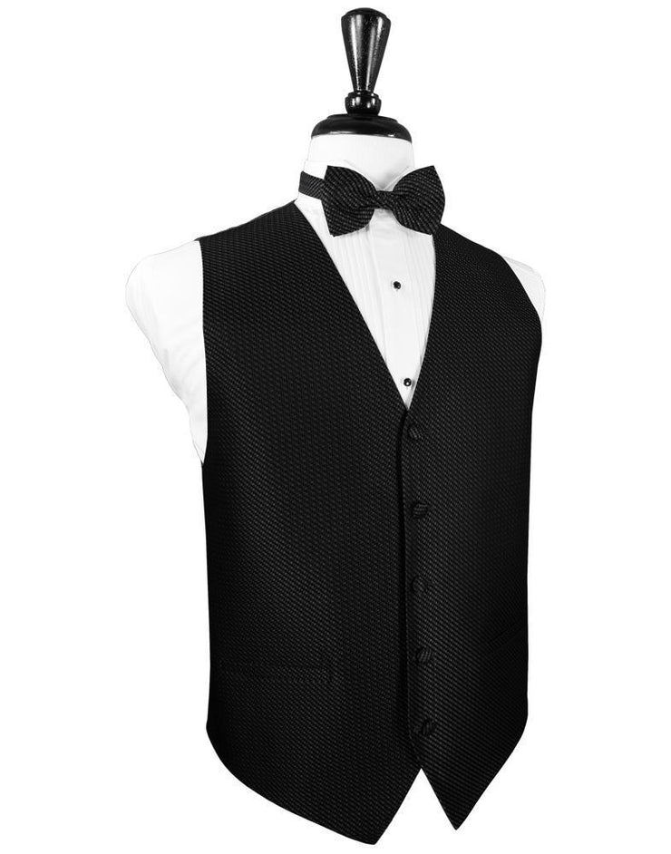 Black Venetian Tuxedo Vest - Miguel's Men's Wear