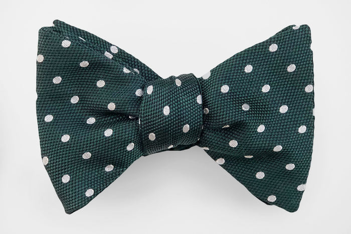 Deep Green White Polka Dot - Miguel's Men's Wear