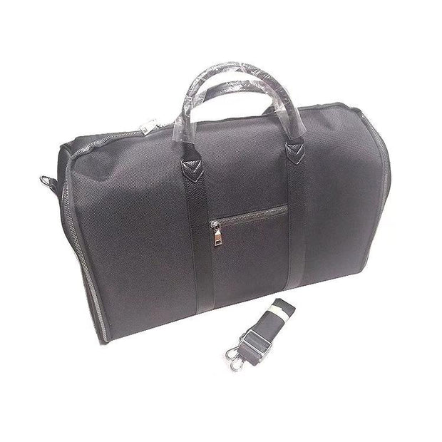 Black Faux Leather Garment Bag - Miguel's Men's Wear