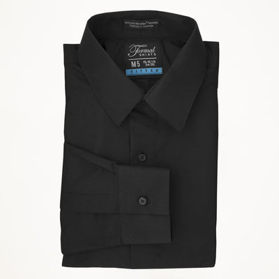 Black Laydown Collar Shirt - Miguel's Men's Wear