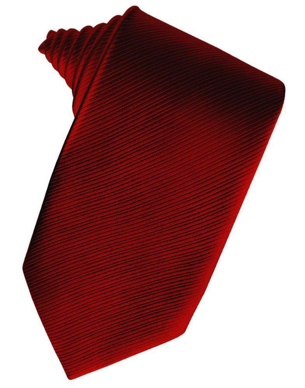 Red Faille Silk Necktie - Miguel's Men's Wear