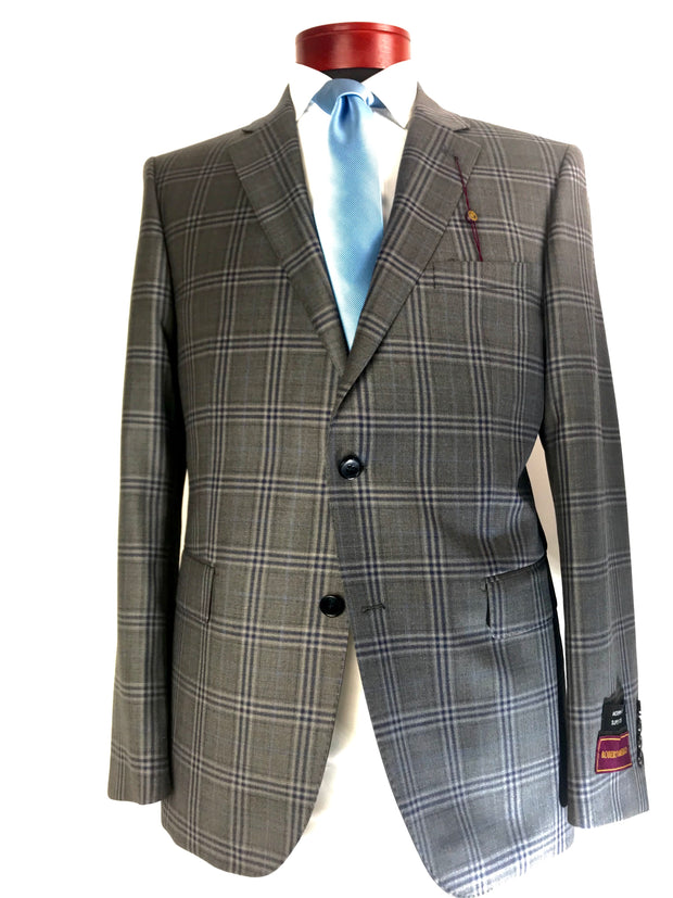 DAB119827 Grey Plaid - Miguel's Men's Wear