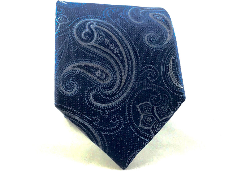 Blue Paisley Silk Tie - Miguel's Men's Wear