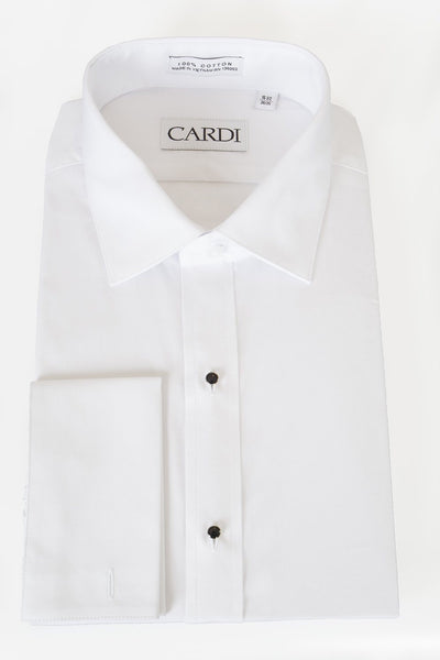 """Richard"" White Spread Collar Shirt - Miguel's Men's Wear"