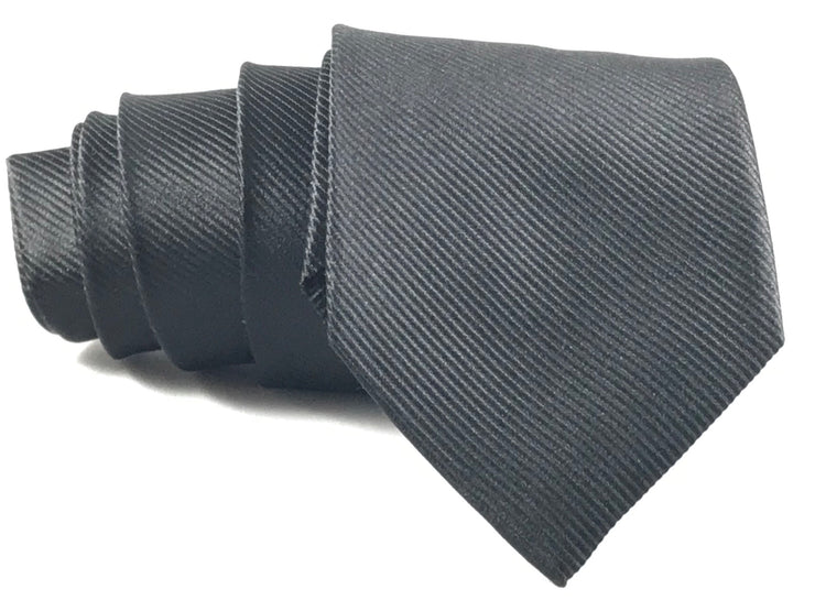 Black Formal Silk Tie - Miguel's Men's Wear
