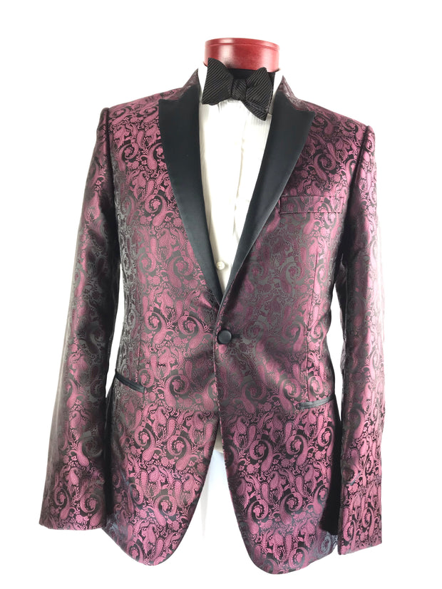 1901 Burgundy Dinner Jacket - Miguel's Men's Wear