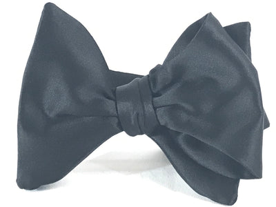 Black Satin Large Evening Bow Tie - Miguel's Men's Wear