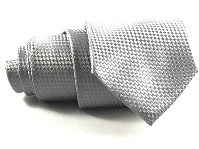 Grey Solid Formal Silk Tie - Miguel's Men's Wear