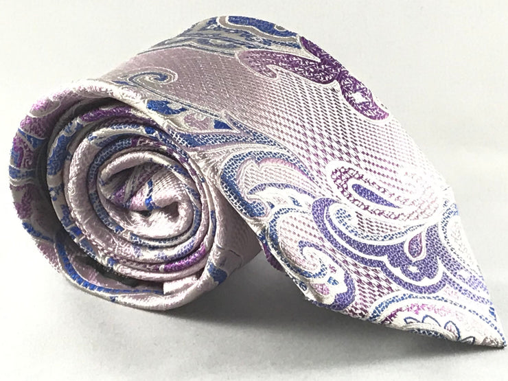 Pink Paisley Silk Tie - Miguel's Men's Wear