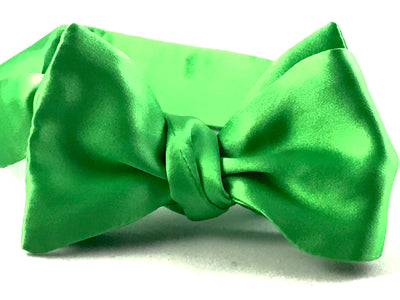 Apple Green Satin Bowtie - Miguel's Men's Wear