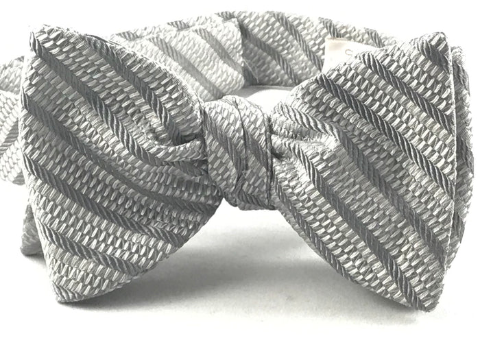 Silver Stripe Bowtie - Miguel's Men's Wear