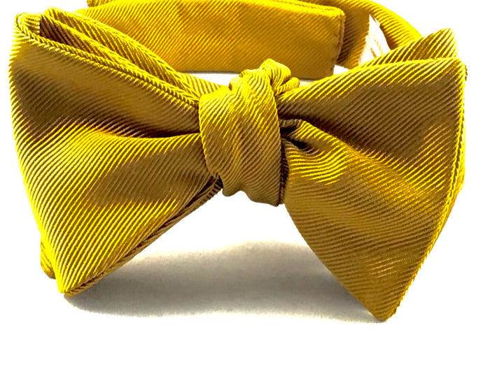 Gold Gross Grain Bowtie - Miguel's Men's Wear
