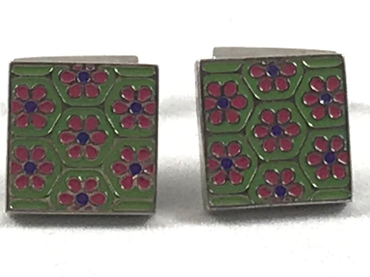 Floral Green Cufflinks - Miguel's Men's Wear