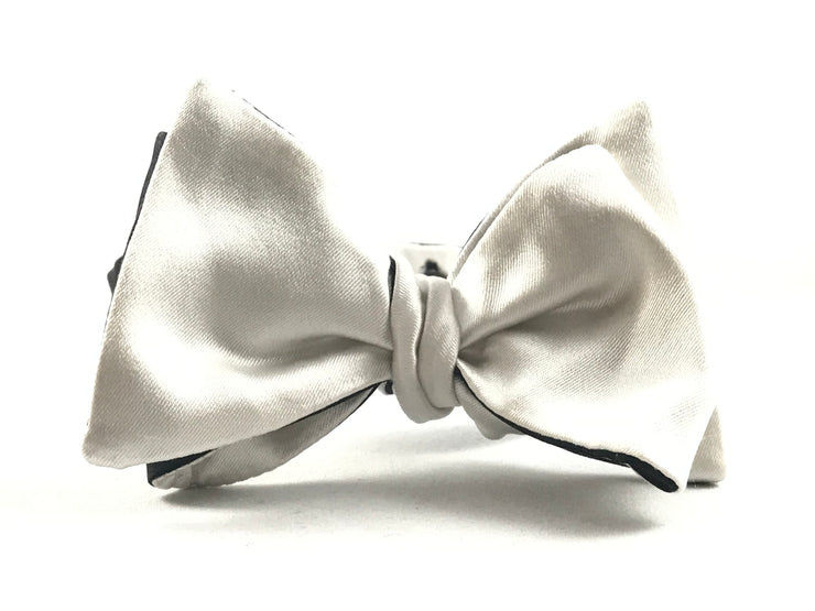 Black White Reversible Tie - Miguel's Men's Wear
