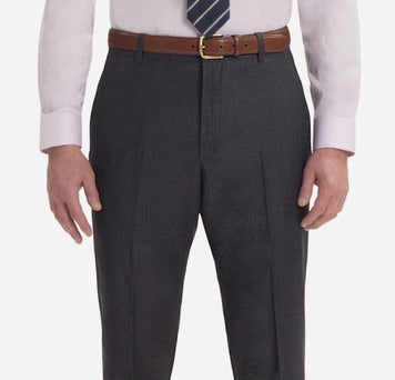MEDIUM GREY SOLID TROUSERS - Miguel's Men's Wear