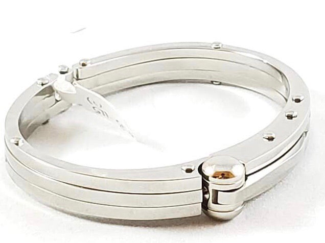 Steel Handcuff Mens Bracelet - Miguel's Men's Wear